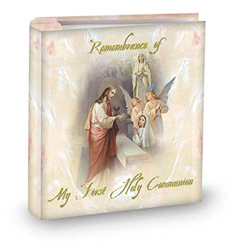 My First Holy Communion Girls Pearlized 4x6 Photo Album, Holds 50 Photos