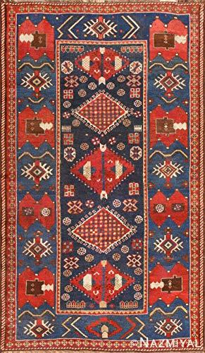 Nazmiyal Small Antique Caucasian Kazak Rug 48719