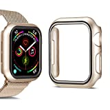 SMEECO Compatible for Apple Watch Series 4 Series 5 Apple Watch Case for Apple Watch 40mm iWatch Case PC Protector Cover Replacement (Retro Gold)