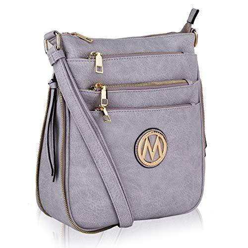 MKF Crossbody Bags for women — Adjustable Strap — Vegan Leather — Crossover Side Messenger Womens Purse ()