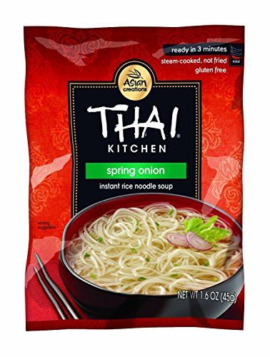 Spring Onion Noodle - THAI KITCHEN | Gluten Free -Noodle Soup-Onion 1.6 Oz [1Pack]