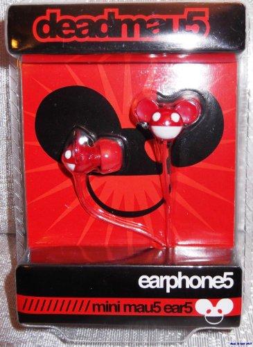 """Deadmau5 """"Mini Mau5 Ear5"""" Red EARBUD Earphones w/ 3.5mm Plug, Best Gadgets"""