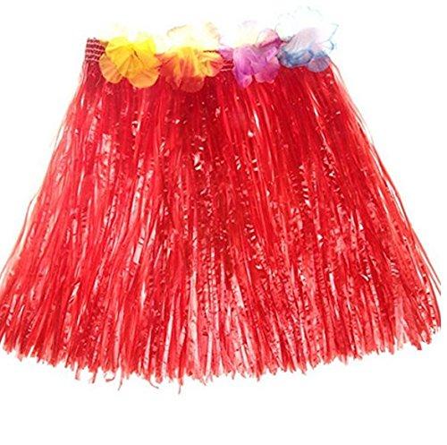 Vi.yo 1 pcs falda de hierba hawaiana para niñas mujeres fiesta ...