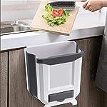 Cubo-de-Basura-Reciclaje-como-Papelera-Plegable-para-Cocina-con-dispensador-de-Bolsas-de-Basura-y-Cepillo-recogedor-de-Mano-multifuncion-con-Soporte-para-Pared-Cubo-Basura-organica