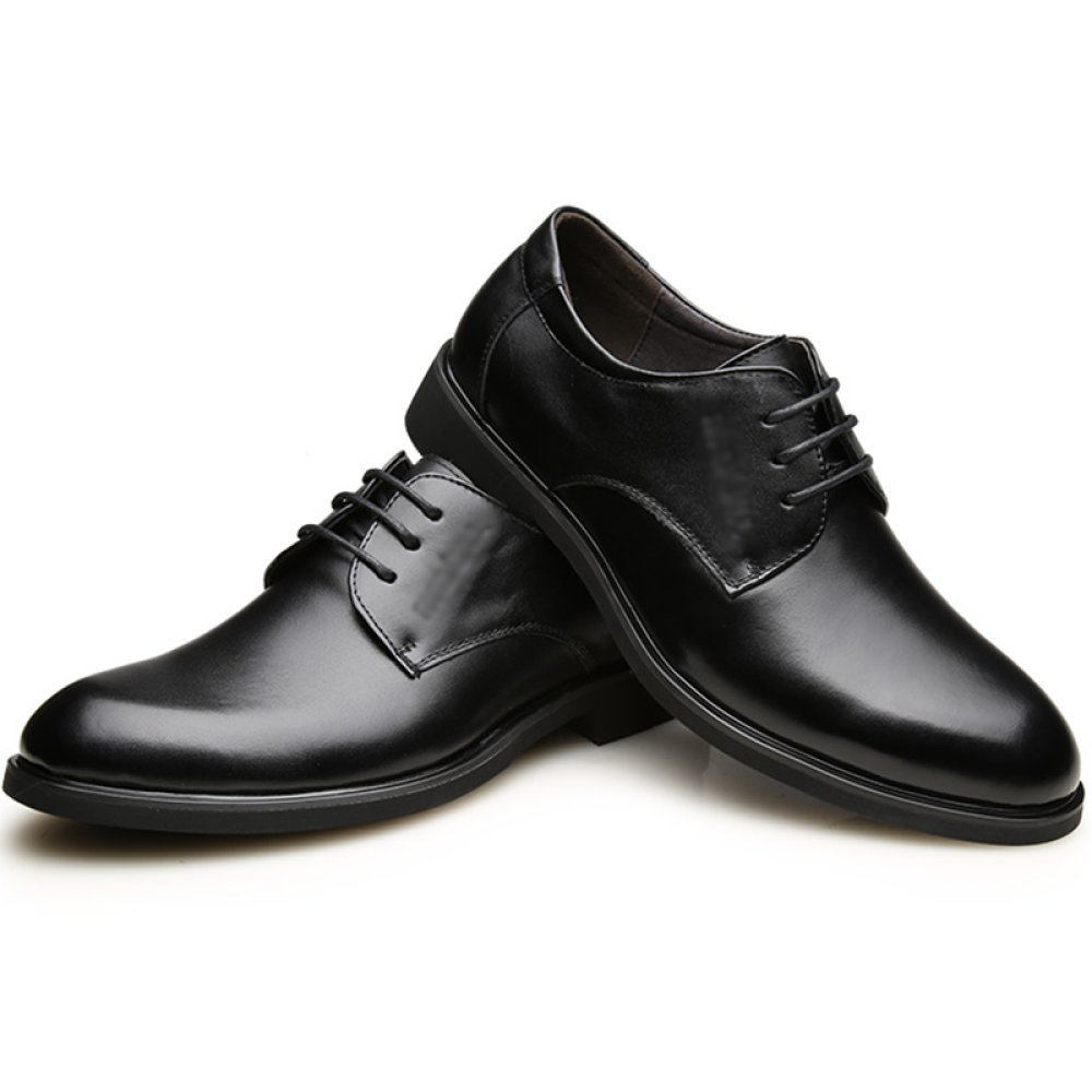 Geschäft   Herren Dress Schuhe Leder Tuxedo Derby Schnürschuhe Commerce Oxford Tuxedo Leder Klassische Runde Kopf schwarz e206b2