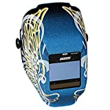 Jackson Safety Insight Variable Auto Darkening Welding Helmet, HaloX (46100), Gold Wings, 1 Helmet/Order