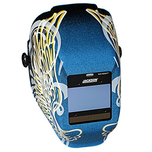 JACKSON SAFETY 46100 Insight Digital Variable ADF Welding Helmet, Halo X, Universal, Gold Wings