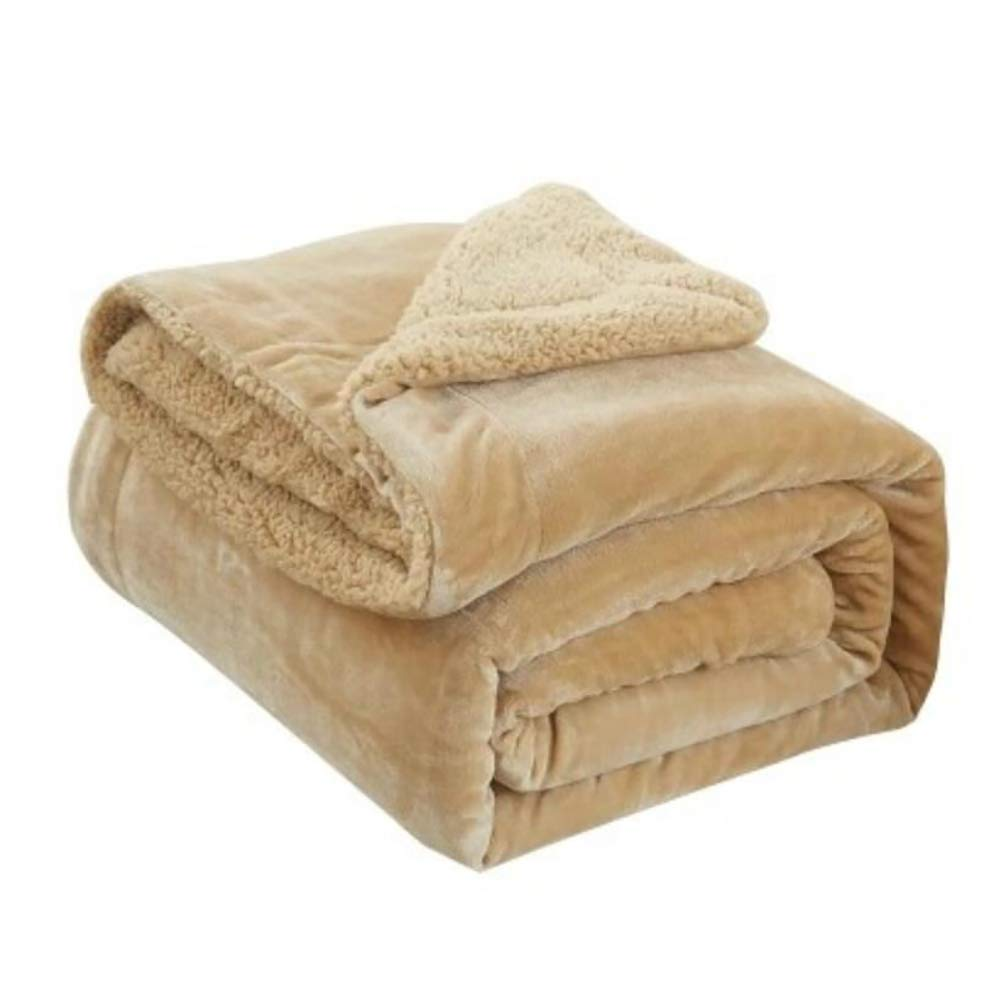 HSBAIS ウォーム毛布 小さい毛布フル/クイーン/キングサイズ - ソフト冬毛布フラワーラムベルベットウォッシャブル,camel_150*200cm B07K797Q78 Camel 150*200cm