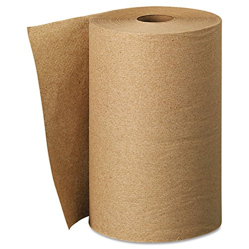 (Scott 02021 Hard Roll Towels, 100% Recycled, 1.5-Inch Core, 8 x 400ft, Natural, 12 Rolls/Carton)
