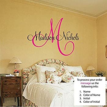 Amazoncom Newsee Decals Morgan Wall Decal Childrens Personalized - Custom vinyl wall decals text