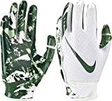 NIKE Youth Vapor Jet 5.0 Receiver Gloves 2018 (White/Dark Green, Large)