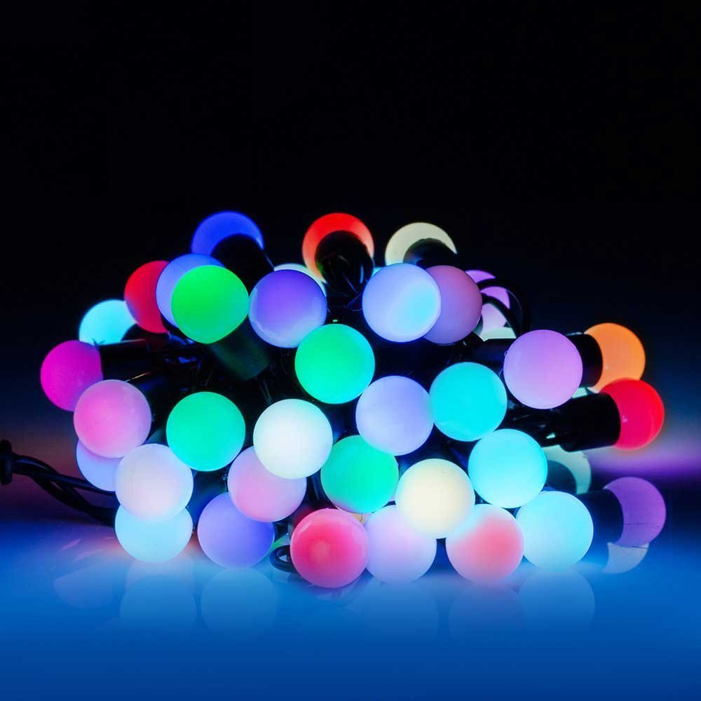 finest selection 76041 349f0 AtneP 28 LED Fancy Balloon RGB String Lights (White)