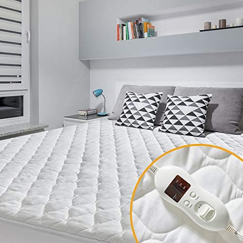 Amazon.com: MAKATZ Heated Mattress Pad Twin Size, Quilted Electric