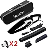Car Vacuum Cleaner, Vacplus 12V Wet & Dry Portable Handheld Vacuum Cleaner for Car, 16.4FT (5M) Power Cord with Carry Bag (Black)
