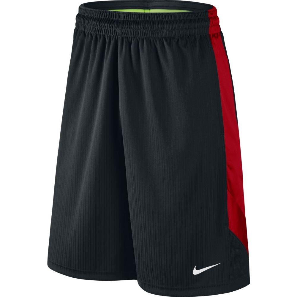 NIKE Men's Layup Shorts 2.0 Black/University Red/Black/White Shorts 3XL