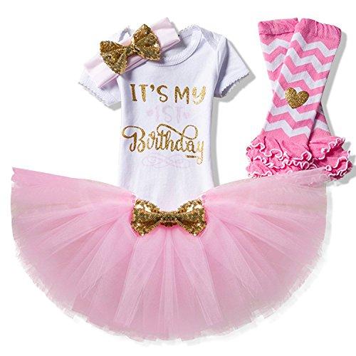 Tutu Series (Suzzo Costume Series Baby Girl Is My 1St Birthday Casual Tops T Shirts Headband Sock Tutu Skirts Set)