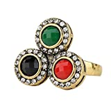 ATHING Vintage Turquoise Rings Tibet Silver European American Style Personality Jewellery 7.0