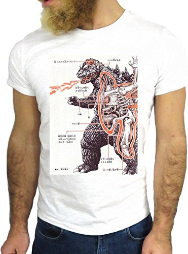 T-SHIRT JODE GGG24 Z1213 CARTOON COLORS DINOSAUR ANIMALS OLD FASHION BIANCA - WHITE L
