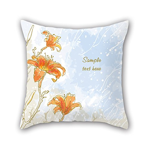 [NICEPLW Flower Pillow Cases ,best For Lover,kitchen,her,bar Seat,outdoor,dance Room 16 X 16 Inches / 40 By 40 Cm(twice] (Dry Bowser Costume)