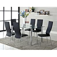Chandler 7 Piece Dining Set Finish: Black