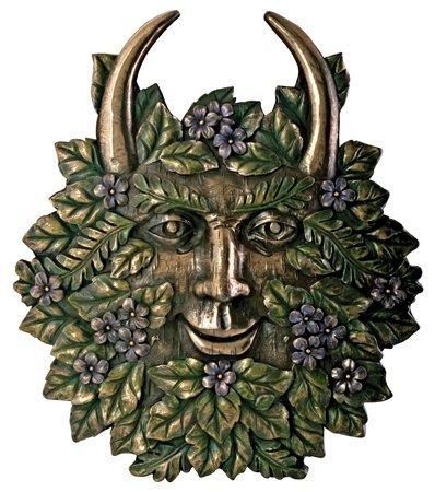 - Greenman Spring Plaque Fantasy Designer Decoration Collectible