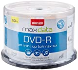 Maxell 16x 4.7 GB DVD-R Spindle 50 Discs