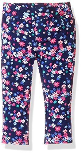 Gymboree Baby Toddler Girls' Printed Knit Jeggings, Bulldozer Blue, 2T
