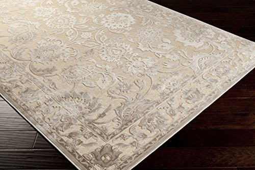 - Jacquelyn Khaki, Beige and Taupe Traditional Area Rug 2'2