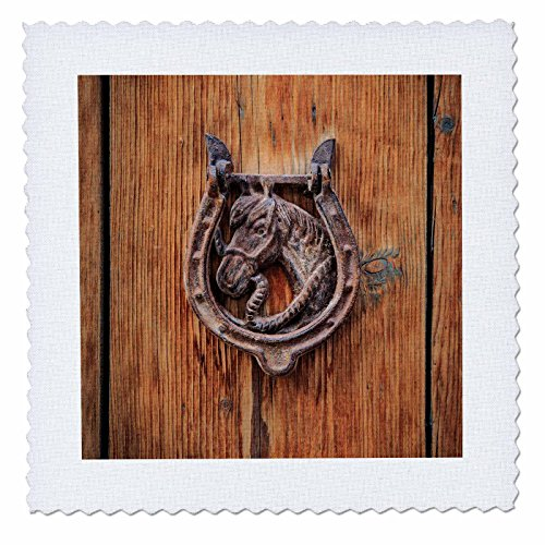3dRose Danita Delimont - Architecture - Spain, Balearic Islands, Mallorca, door knockers. - 18x18 inch quilt square (qs_277912_7) by 3dRose