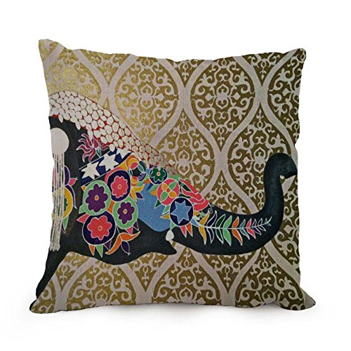 Throw Pillow Covers 18 X 18 Inches / 45 By 45 Cm(twin Sides) Nice Choice For Him Valentine Dance Room Sofa Divan Teens Boys Elephant