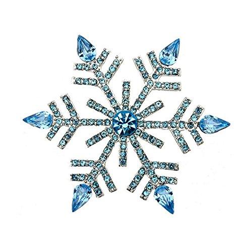 s Xmas Swarovski Element Crystal Snowflake Brooch Pin Jewelry Gift (Swarovski Crystal Star Brooch)