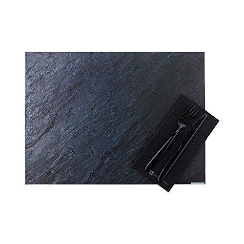 Paper Placemats - Slate Print, Stone Print - 12