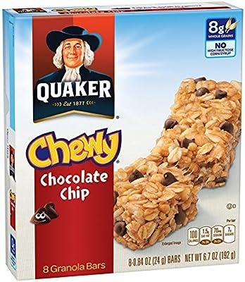 amazon com quaker chewy granola bar chocolate chip snack bars 8