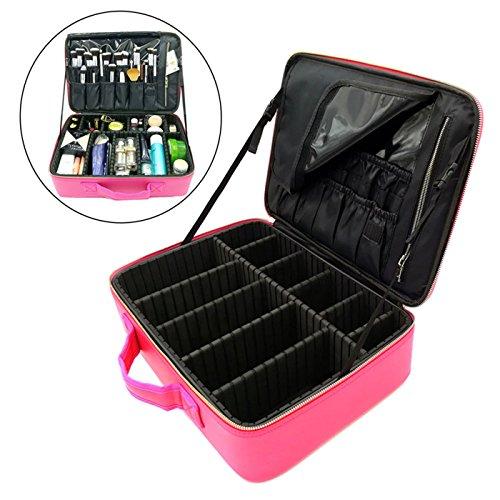 b6784e623bc0 Rownyeon Pu Leather Makeup Case Mini Bag Portable Tr