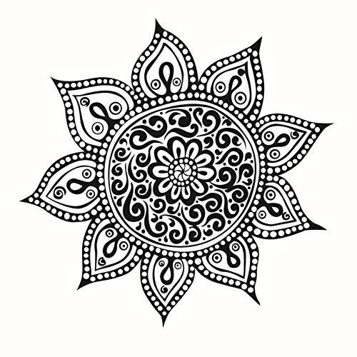 yiyitop Yoga Flower Mehndi Pegatinas de Pared Mandala Indio ...