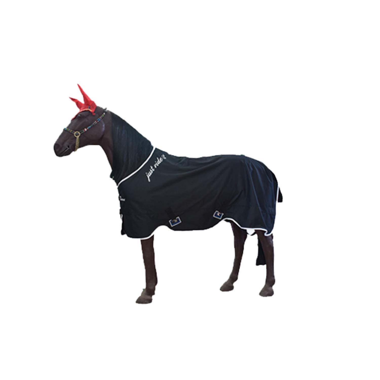Black 130cm Black 130cm Spring and Autumn Horse Carpet Light and Warm Training Horse Blanket Mesh Ventilation Rainproof Windproof