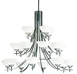 Kichler 1861ap chandelier 20lt incandescent for Casual dining chandeliers