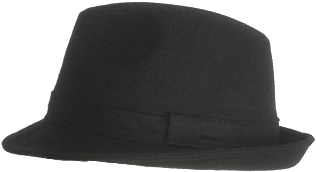Brims Oxford Classic Black Wool Fedora Made in Italy