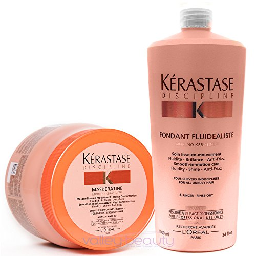 Pack Discipline 4 : Bain Fluidealiste 1000ml+ Masque Maskeratine 500ml Kerastase Good Care Hair by Good Care Hair (Image #1)