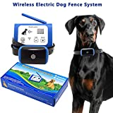 Wireless Electric Dog Fence System Outdoor Invisible Wireless Dog Fence Containment System 550YD Remote Control with Rechargeable Waterproof Receiver Beep/Vibration/Shock Mode Dogs