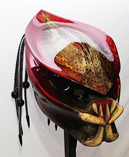 Kustomzairbrushing Red Candy Predator Helmet X Large