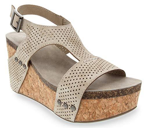 (Sugar Women's Junebug 2 Platform Cork Wedge Sandal 11 Natural)
