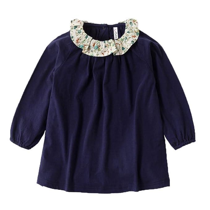 034670c82 Amazon.com  VIYOO Toddler Girl Long Sleeve Girls Dresses for Kids 2 ...