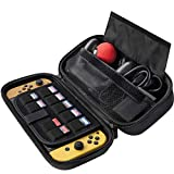 [Extra Large] ButterFox Switch Case for Nintendo Switch, Fits Pro Controller, Wall Charger AC Adapter and Pokeball Plus, 9 Game Card Holders - Black