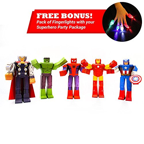 Avengers Age of Ultron Superhero Toys Set - Marvel Avengers Superhero Action Figures Set - Superheroes Party Supplies - Hulk Toys Spiderman Toys Captain America Toys Thor Action Figure Iron Man Toys
