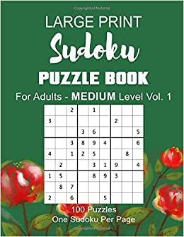 graphic about Free Printable Sudoku 4 Per Page referred to as Enormous Print Sudoku Puzzle Ebook For Grown ups. Medium Issue Vol