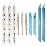 RPR10MX Saxton 10 Blade Reciprocating Sabre Saw Combo Wood & Metal fits Bosch, Dewalt Makita
