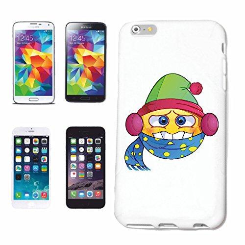 """cas de téléphone iPhone 7S """"SMILEY LE WINTER SPORT MITSCHÜTZER ET FOULARD HAT """"SMILEYS SMILIES ANDROID IPHONE EMOTICONS IOS grin VISAGE EMOTICON APP"""" Hard Case Cover Téléphone Covers Smart Cover pour"""