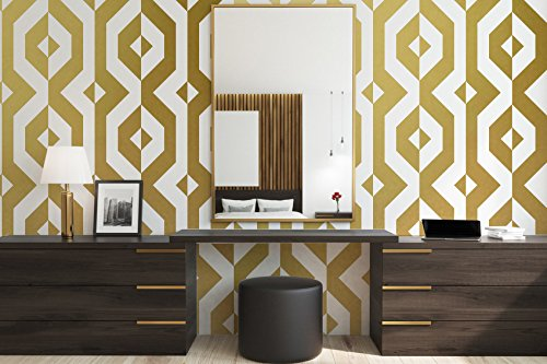 Mid Century Modern Wall Art, Retro Wall Decal, Geometric Wall Decals, Modern  Wall