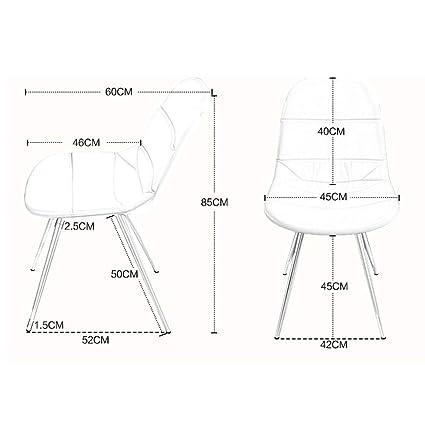 Amazon.com: FJZ Chair Silla De Comedor Silla De Computadora para El ...